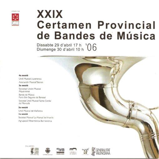 XXIX Certamen Provincial de Bandas de Musica